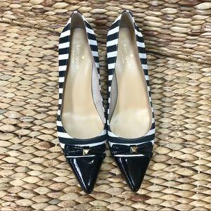 Kate Spade stripe heels